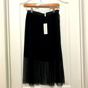 NWT BCBGeneration short  skirt with overlay XS